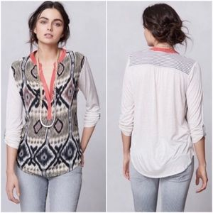 Anthropologie tiny sima ikat print top xsmall